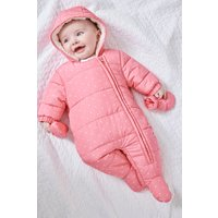 Girls Next Pink Spot All-In-One (0mths-2yrs) - Pink