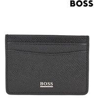 Mens BOSS Black Signature Collection Card Wallet - Black