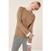 Womens Next Camel Woven Hem Layer - Brown