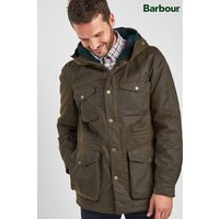 Mens Barbour Coll Waxed Jacket - Green