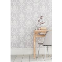 Next Paste The Wall Delicate Damask Wallpaper - Grey