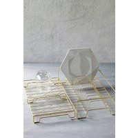 Next Geo Folding Dish Drainer - Gold