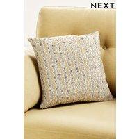 Next Velvet Spot Cushion - Yellow