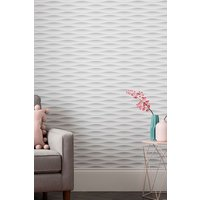 Next Paste The Paper Wavy Geo Wallpaper - White