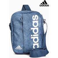 Mens adidas Blue Marl Linear Bag - Blue