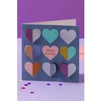 Next Heart Birthday Card - Blue