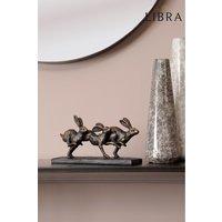 Libra Running Hares Sculpture - Bronze