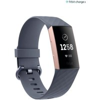 Womens Fitbit Charge 3 Advanced Tracker Wristband - Grey