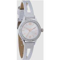 Womens Next Silver Tone Shimmer Split Strap Watch - Silver