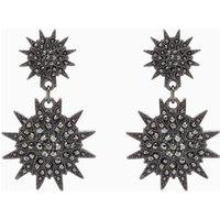 Womens Next Gunmetal Shape Drop Earrings - Grey