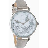 Womens Next Metallic Floral Dial Watch - Pewter