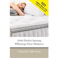 Next 1000 Pocket Sprung Luxury Pillow Top Firm Mattress - White
