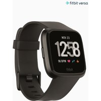 Womens Fitbit Aluminium Versa Smart Watch - Black