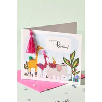 Next Animal Birthday Card - Pink