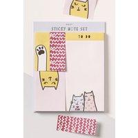 Next Cat Sticky Notes - Blue