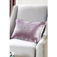 Next Plush Velvet Fringe Cushion - Purple