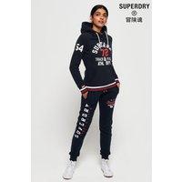 Womens Superdry Track & Field Hoody - Blue