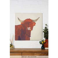 Next Artist Collection Hamish by Julia Burns Canvas - Brown