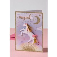 Next Unicorn Birthday Card - Purple