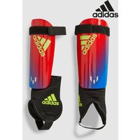 Boys adidas Messi Shin Guard - Blue