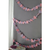 Next Heart Bunting - Pink
