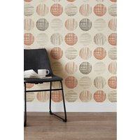 Next Paste The Paper Etched Circles Wallpaper - Orange
