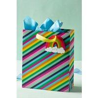 Next Rainbow Stripe Gift Bag - Pink