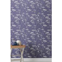 Next Paste The Wall Inky Floral Wallpaper - Blue