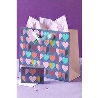 Next Multi Heart Gift Bag - Blue