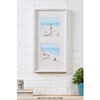 Next Artist Collection Beach by Hannah Cole Frame - Blue