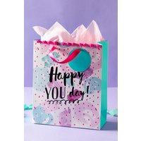 Next Pom Pom Birthday Gift Bag - Pink
