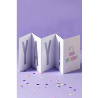 Next Concertina Birthday Card - Silver