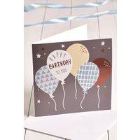 Next Large Balloon Birthday Card - Blue