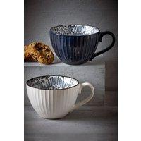 Next Set of 2 Floral Mugs - Blue