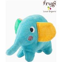 Frugi Blue Froogli Squidge Elephant Ogranic Cotton Soft Rattle - Blue