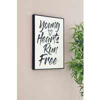 Next Young Hearts Framed Art - White