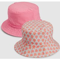 Girls Next Pink Geo Fisherman's Hat Two Pack (Younger) - Pink