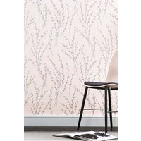 Next Paste The Wall Glitter Willow Wallpaper - Pink