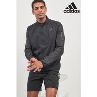Mens adidas Own The Run Black Jacket - Black
