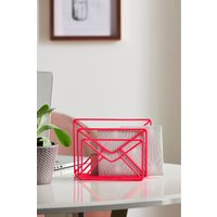 Next Neon Wire Letter Rack - Pink