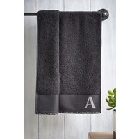Next Monogram Bath Sheet - Grey