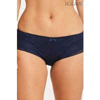 Womens Figleaves Juliette Lace Short - Blue