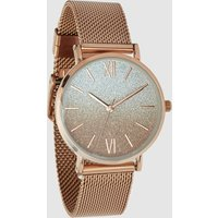 Womens Next Rose Gold Tone Mesh Shimmer Dial Watch - Gold