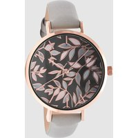 Womens Next Grey Leaf Dial Watch - Grey