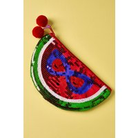 Next Sequin Watermelon Pencil Case - Red