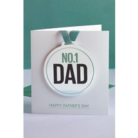 Next No. 1 Dad Medal Card - Blue