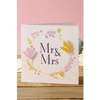 Next Floral Mr And Mrs Wedding Card - Yellow