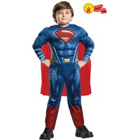 Boys Rubies Justice League Superman Fancy Dress Costume - Blue
