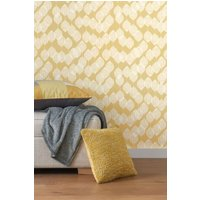 Next Paste The Wall Ochre Leaf Wallpaper - Yellow