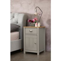 Next Hanley Storage 1 Drawer Bedside Table - Grey